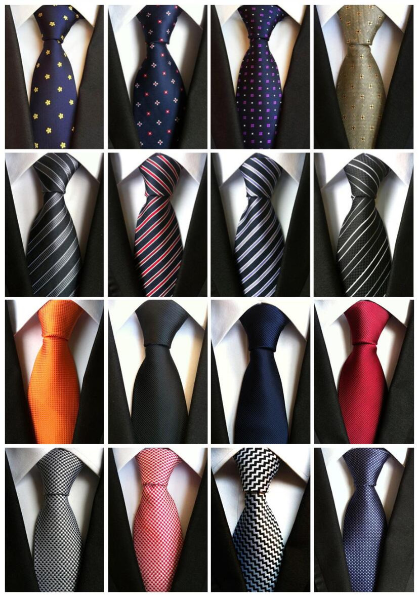 Fashionable Fashion Classic Men's Stripe 100% Silk Tie Black Red White Orange Navy Blue Purple Beige Green Yellow Tie's Neckties