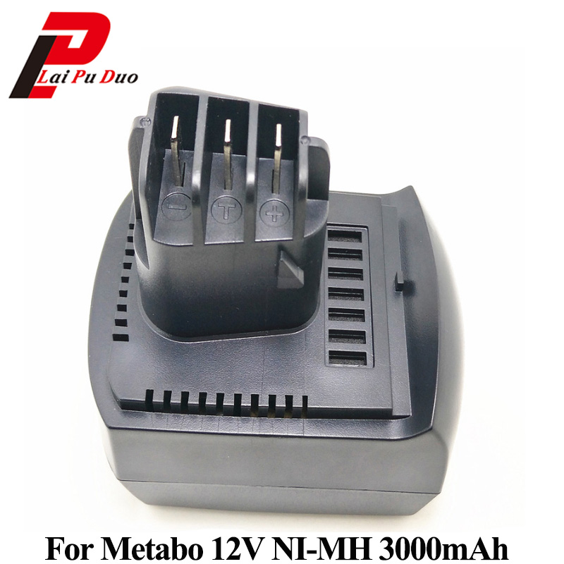 Replacement power tool battery 12v 3000mAh Ni-MH for METABO: 6.02151.50,BZ12SP,BSZ 12, SSP 12,BZ 12 SP, ULA9.6-18 14 4v 3000mah power tool battery li ion for metabo 6 25482 bsz 14 4 impuls li bsz14 4