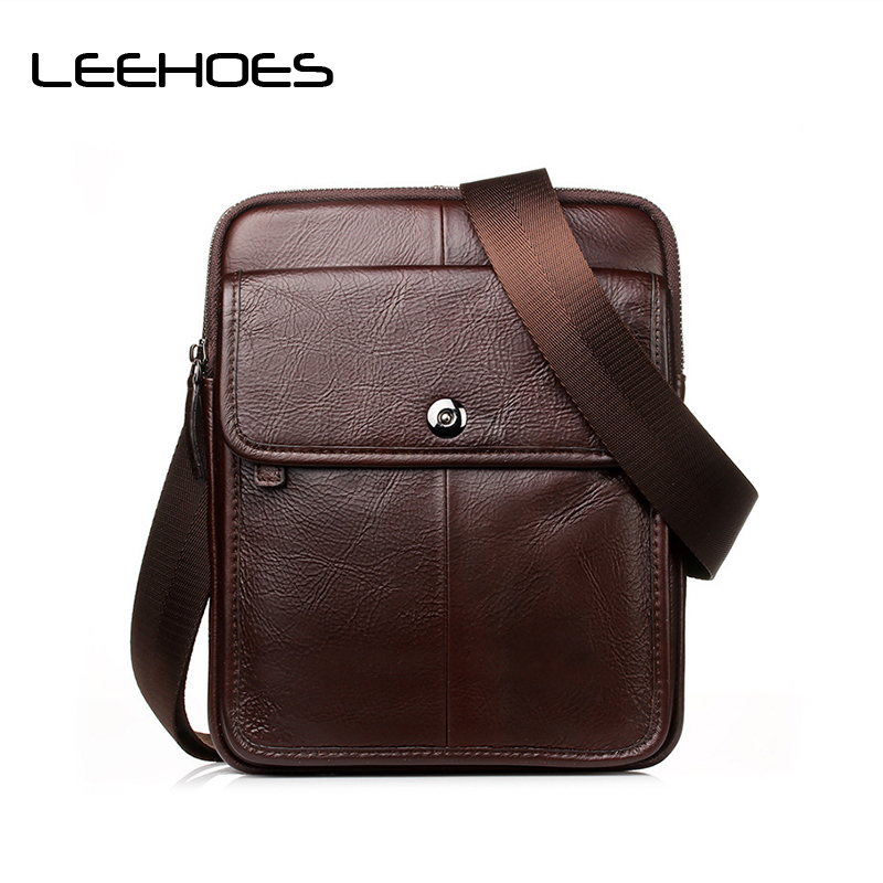 Vintage Genuine Leather Men Bags Hot Sale Male Small Messenger Bag Man Fashion Crossbody Business Shoulder Bag Men's Travel Bags men crossbody bags 2017 new real leather business man dress fashion brand casual vintage small shoulder bags male crossbody bag