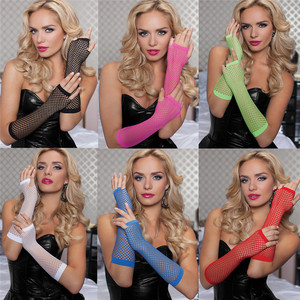 Image 2 - Cosplay Queen Bride Sex Costumes Accessories Womens Sexy Long Transparent Mesh Fishnet Gloves Pole Dance Erotic Toys Products