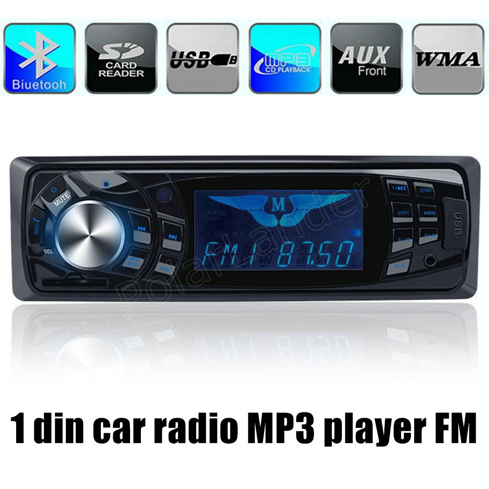 Best selling 1 din bluetooth 12v car stereo fm radio mp3 audio player support phone usb