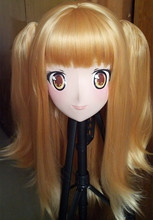 (C2-021)Full Head Anime KIG Mask Cosplay Kigurum Crossdresser Doll Halloween Fetish Cartoon Character Masks Can Custom EYES/HAIR