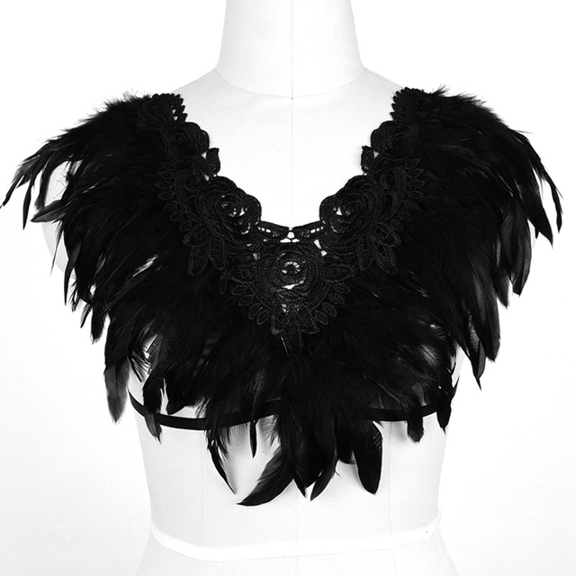 7d0e8761184e8 Festival Fearhers Epaulette Angel Wings Bondage Shoulder Adjust Back Size  Rave Wear Womens Erotic Bdsm Burlesque Burning Corset