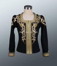 black men's Ballet top boy's ballet jacket for Man dance costumes,Boy coat for ballet,professional ballet top
