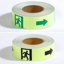 3M Glow Tape Self-adhesive Sticker Removable Luminous Tape Fluorescent Glowing Dark Striking Warning Tape