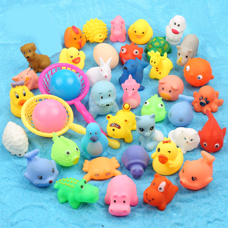 5pcs Bathing Toys Swiming Accessories Baby Toys Bath Shower Pink Dropshipping Turtles Cute Toys Bathroom Kids Crab Toys Shark