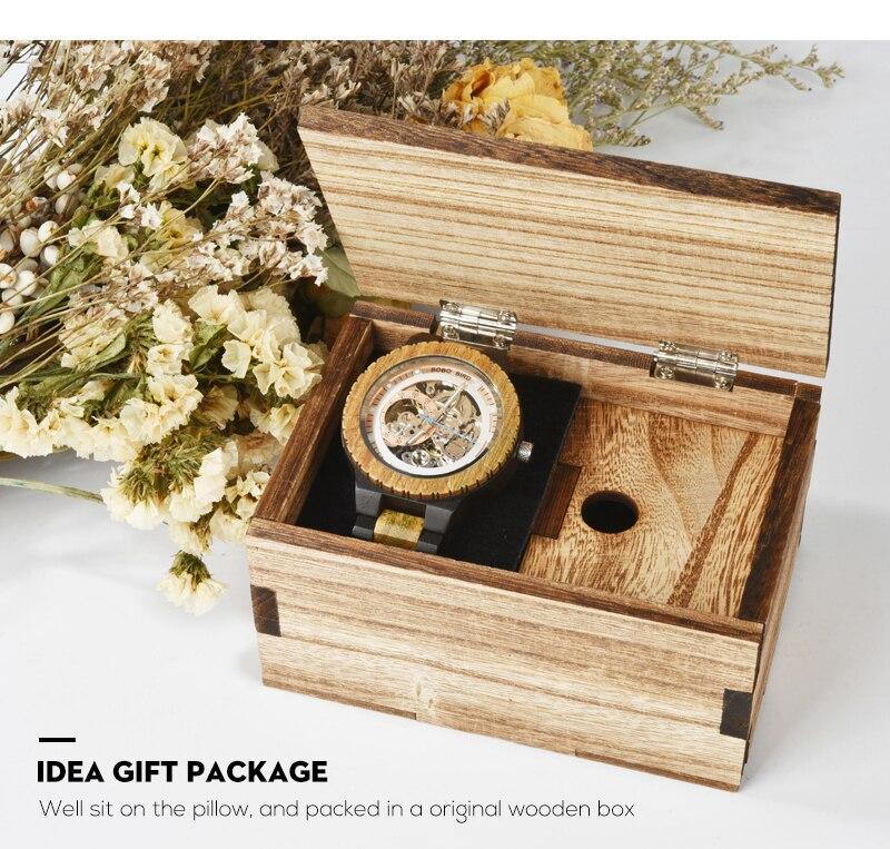 HTB1ODtna4z1gK0jSZSgq6yvwpXa7 Relogio Masculino BOBO BIRD Mechanical Watch Men Wood Wristwatch Automatic Customized Gift for Dad