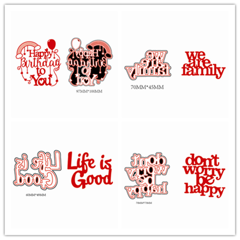 Swovo Creative Artistic English Letters Frame Metal Cutting Dies ...
