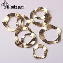 Hollow Charms Jewelry-Making-Accessories Diy Earrings Golden Distorted for 22mm-33mm