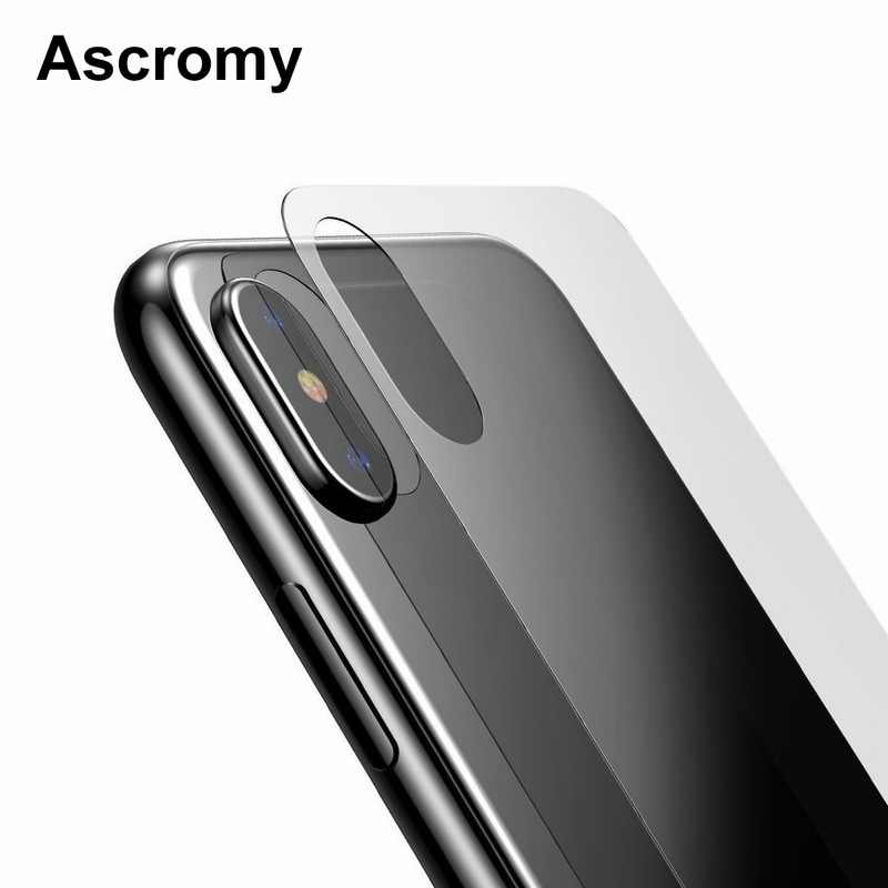 Ascromy For iPhone X Screen Protector Front and Back Tempered Glass Full Body Film Cover For iPhone X 10 iPhoneX Screenprotector