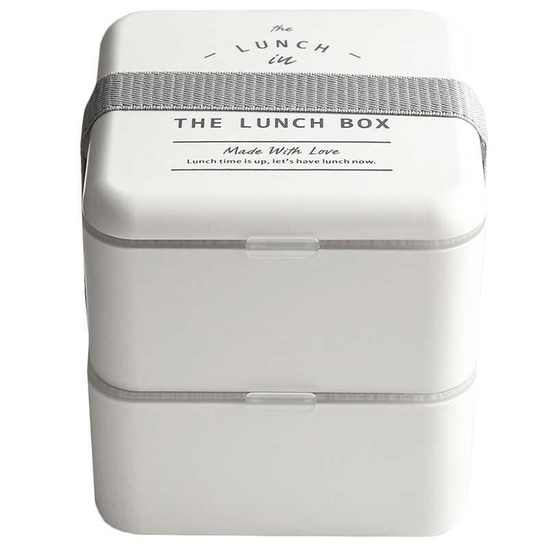 1000 мл квадратный материал не вредит здоровью Ланч-бокс 2 Слоя Простые коробки для обедов бенто микроволновая посуда контейнер для хранения еды Ланчбокс кухня