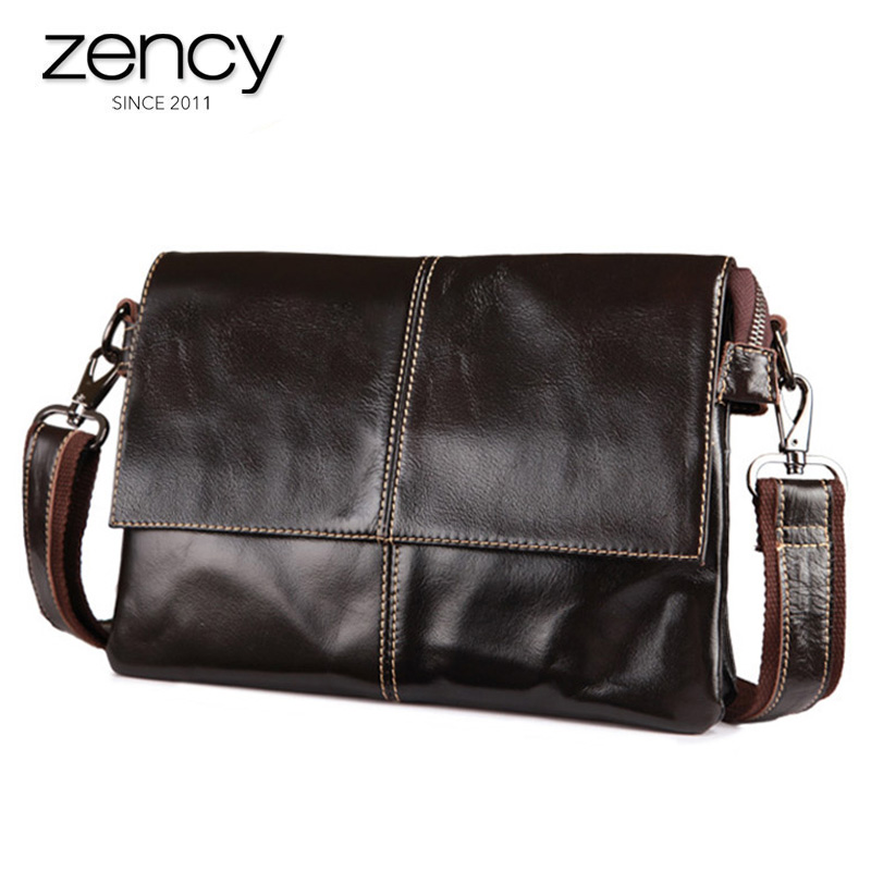 2018 New Arrival 100% Genuine Leather Men's Messenger Bags Fashion Vintage Crossbody Bag For Male Man Casual Cluth Simple Bolsa new arrival messenger bags fashion rabbit fair for women casual handbag bag solid crossbody woman bags free shipping m9070