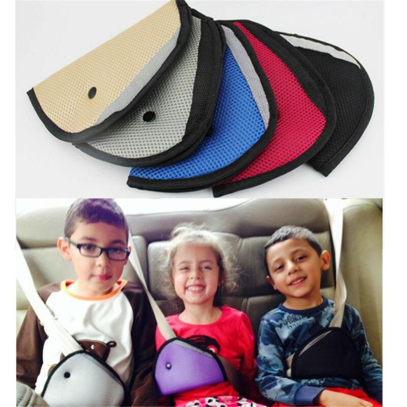 Triangle Baby Kid Car Safe Fit Seat Belt Adjuster Car Safety Belt Adjust Device