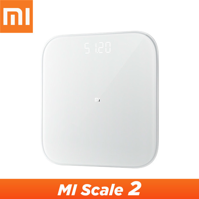 מקורי Xiaomi Mijia בקנה מידה 2 Bluetooth 5.0 חכם שקילה דיגיטלי Led תצוגת עובד עם Mi fit App עבור משק בית כושר
