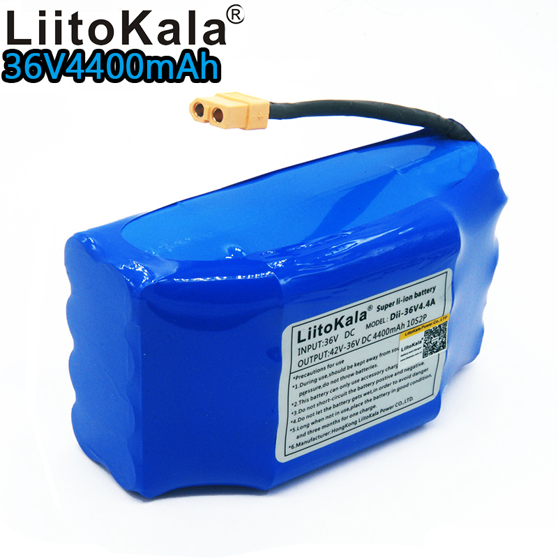 Liitokala 36v 4.4ah lithium battery 10s2p 36v 4.4ah lithium ion battery pack 36v 4400mah scooter twist car battery
