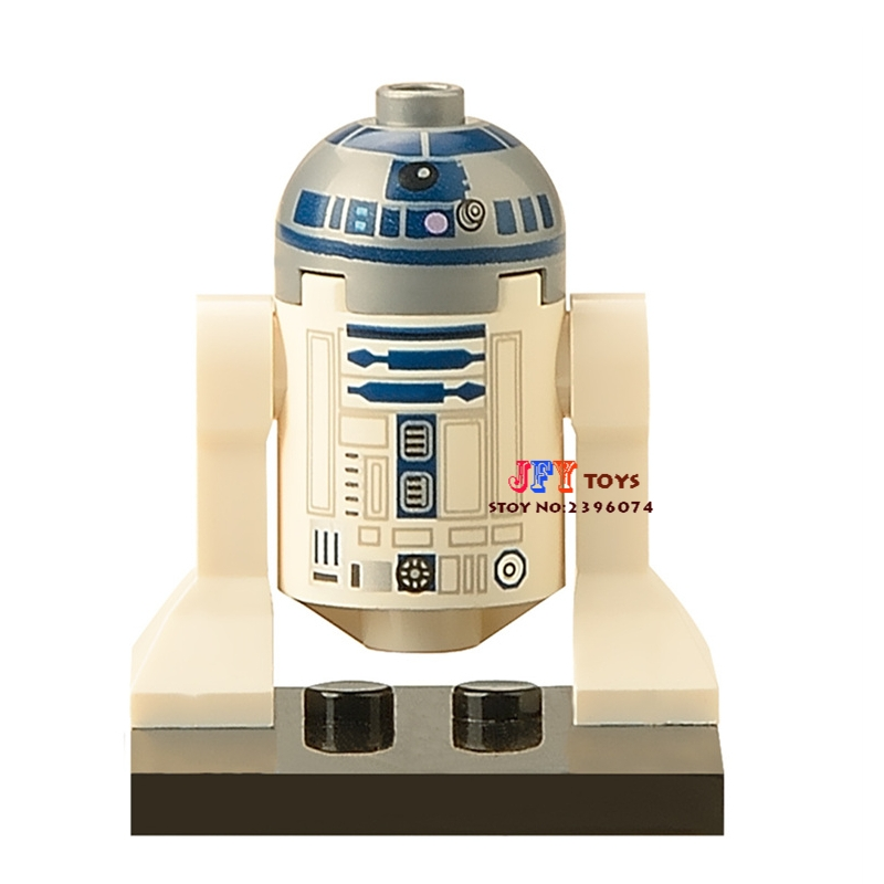 Single star wars superhero R2D2 R2-D2 The Last Jedi Droid Robot building blocks model bricks toys for children brinquedos menino loz super mario kids pencil case building blocks building bricks toys school utensil brinquedos juguetes menino jouet enfant