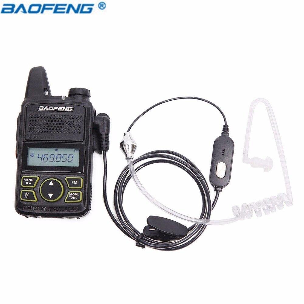 Baofeng 1 Pin Covert Air Tube Acoustique Casque Écouteur pour Baofeng Talkie Walkie BF-T1 UV-3R Plus Two way Radio