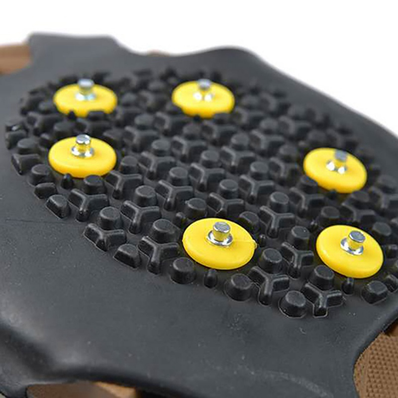 10PCS Studs Ice Gripper Spike For Shoes Anti Slip Outdoor Climbing Snow Spikes Crampons Cleats Chain Claws Grips Boots Cover