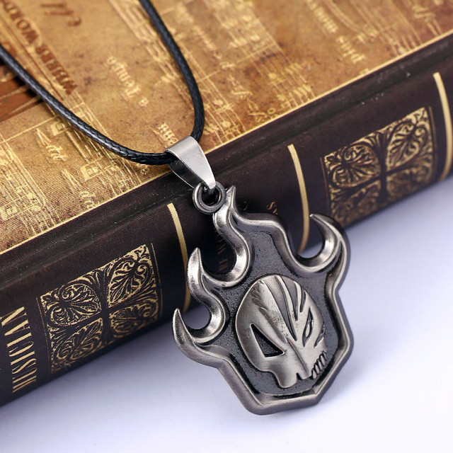 Anime Bleach Necklace Skull False Fire Silver Collar