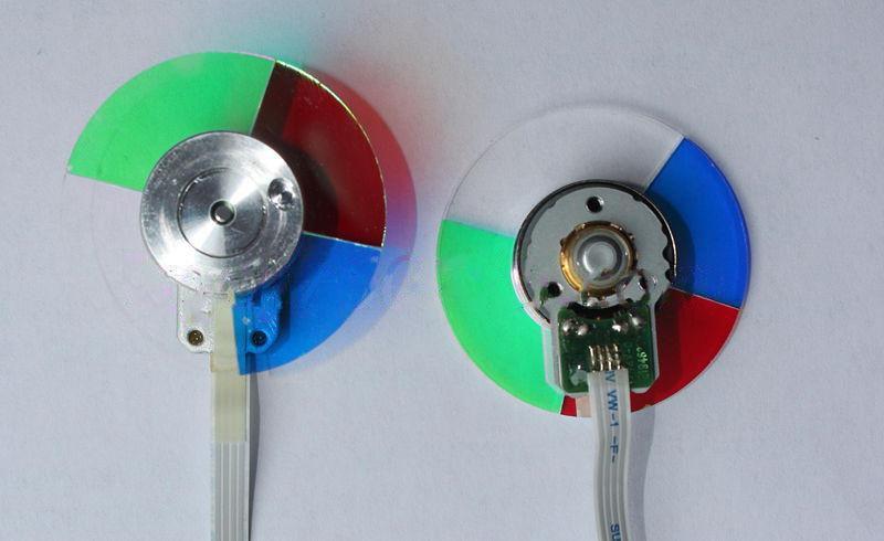 100% new for dell 3300MP/3100MP/2100MP/3200MP/4100MP projector color wheel 4 segment 42mm 4 segment diameter 44mm projector color wheel fit for del 3200mp