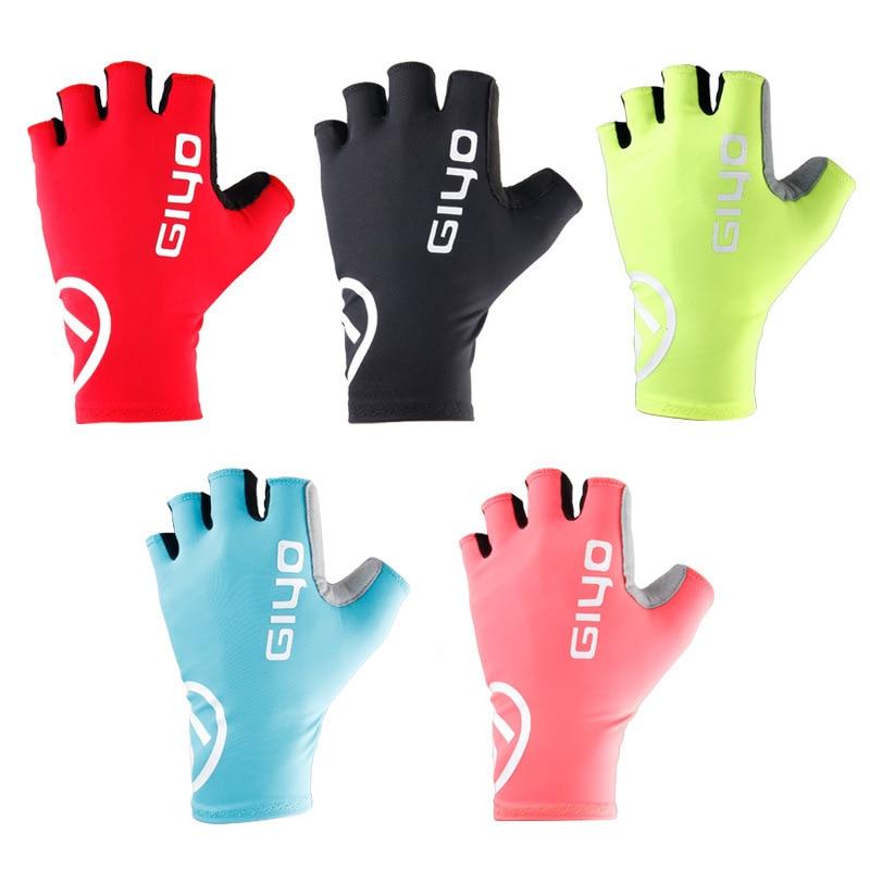 Giyo Breaking Wind Cycling Half Finger Gloves Anti-slip Bicycle Lycra Fabric Mittens MTB Racing Road Bike Glove