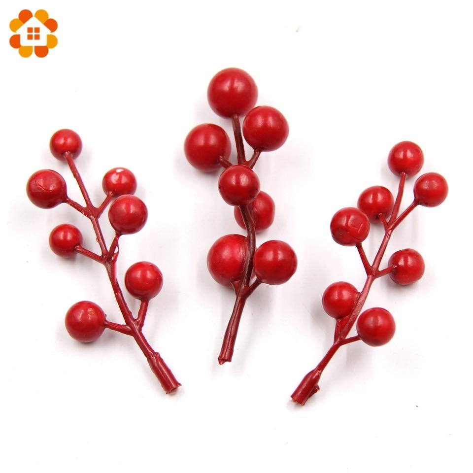 Шт. 20 шт. Искусственные цветы поддельные гладкая пена гранат Cherry ягоды тычинки DIY Скрапбукинг цветы дома Свадебные украшения