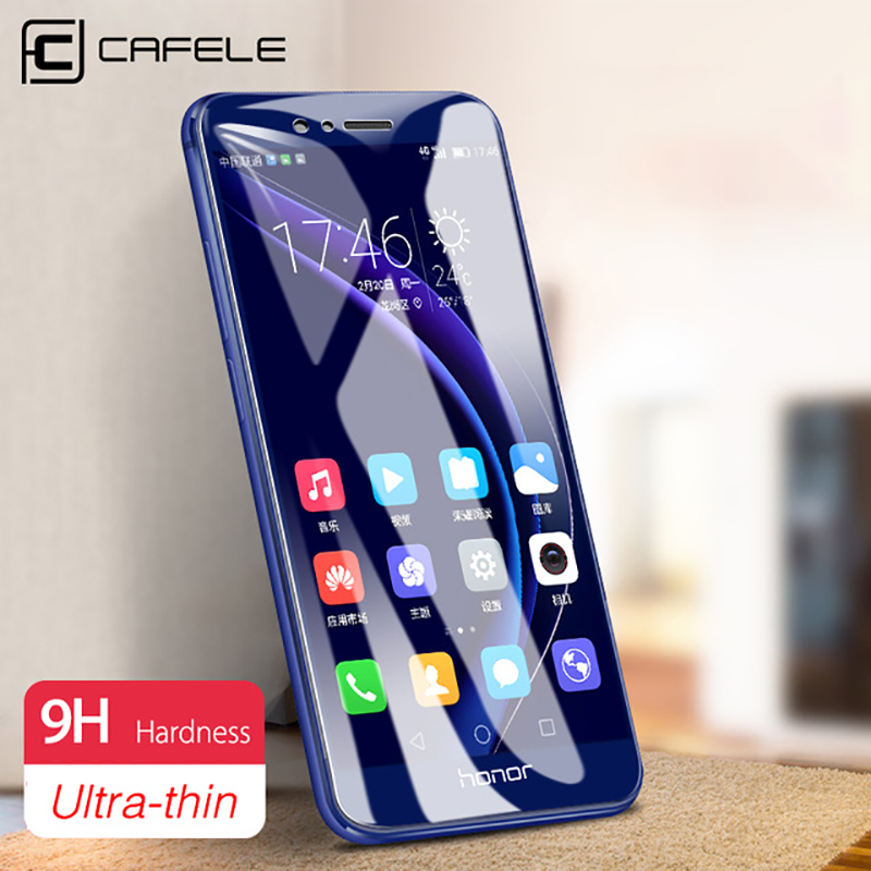 محافظ صفحه نمایش CAFELE برای Huawei Honor 8 9 10 V10 20 V30 Pro 2.5D Tempered Glass Ultra Thin Film for Huawei P40 20 30 pro