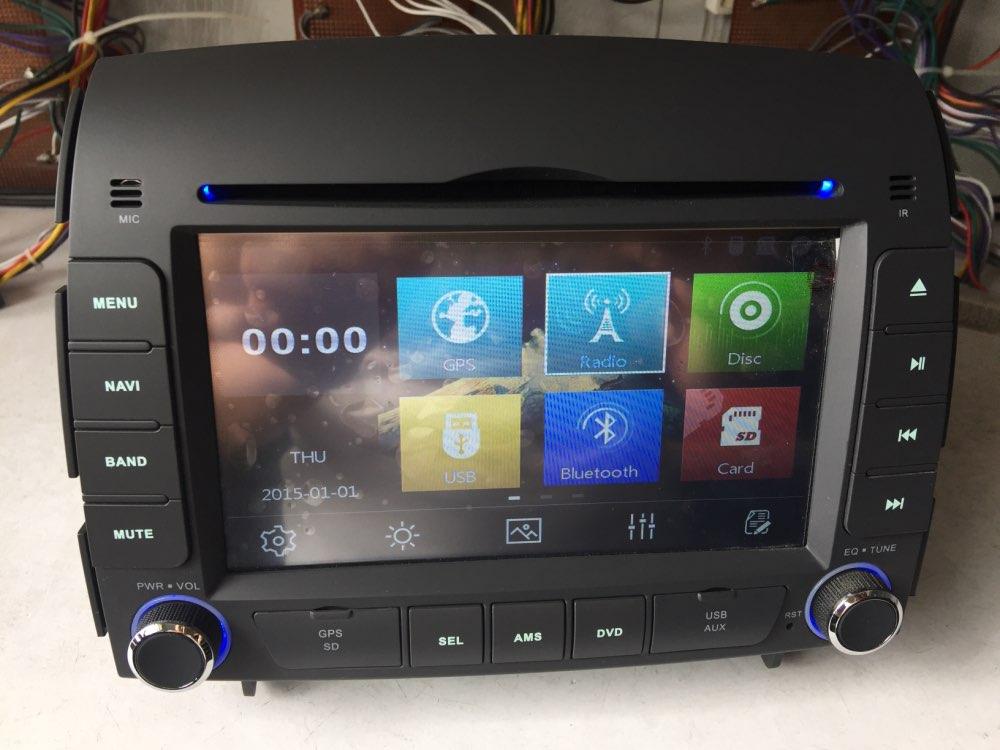 Livraison gratuite 6.2 pouce Lecteur DVD de Voiture pour hyundai sonata 2006 2007 2008 Bluetooth GPS Navigation Radio magnétophone headunit FM