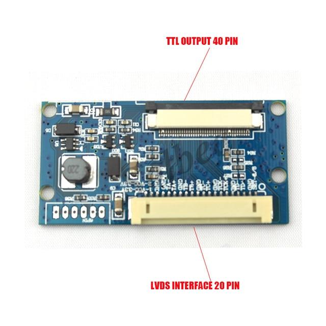 Felxbile LVDS 1ch 8bit DF14 - 20Pin обратиться к 40Pin TTL жк-цифровой T - conboard конвертер доска для 7 ~ 10.1 дюймов 1024 x 768 ЖК панель