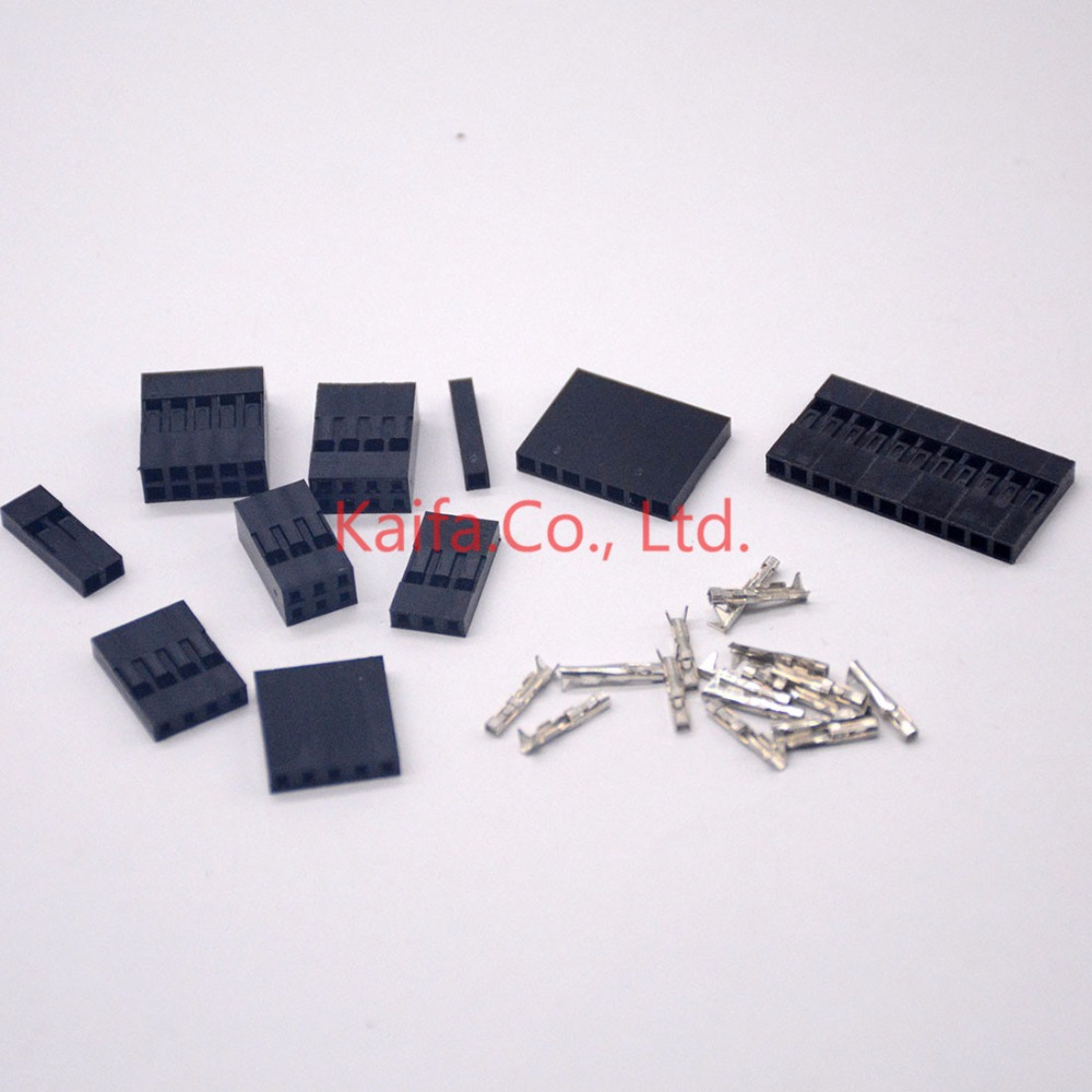 50set 2.54mm Single row 1/2/3/4/5/6P Pin Dupont Connector Dupont Plastic Shell Plug Dupont Jumper Wire Cable Pin Header female 50pcs lot 6 pin 2x3 pin 2 54mm double row plastic dupont head jumper wire cable housing female pin connector