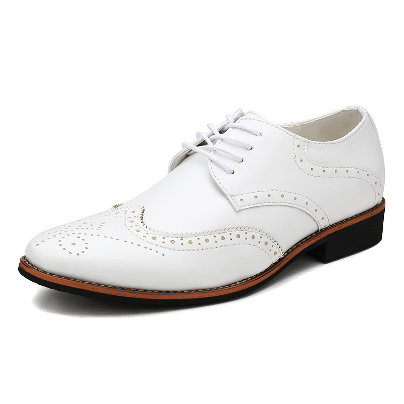 KLYWOO New Brogue Oxford Shoes For Men Dress Shoes Microfiber ...