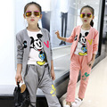 Children girls clothing set spring autumn cartoon Mickey hoodie pants 3pcs kids sport suit kids clothes tracksuit girls clothes