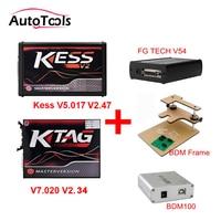 New Match Kess V2 V2.47 V5.017 + K TAG v2.34 v7.020 K TAG ECU Programmer+ FGTECH Galletto 4 Master v54 +BDM Frame +BDM 100