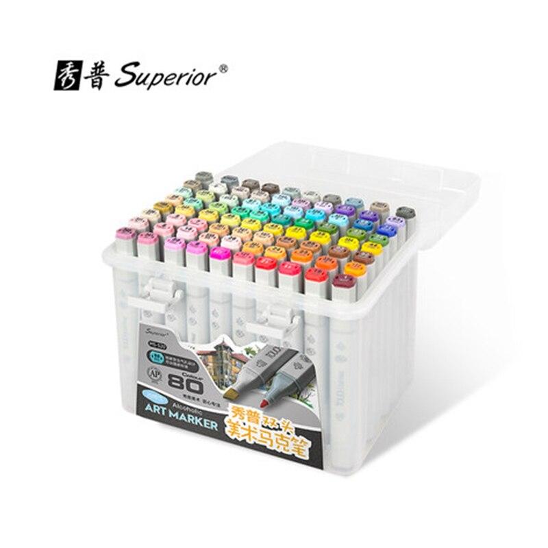 superior Art Marker 30/40/60/80/218 Color Animation Sketch Marker for Artist Drawing Manga Design Art Supplier