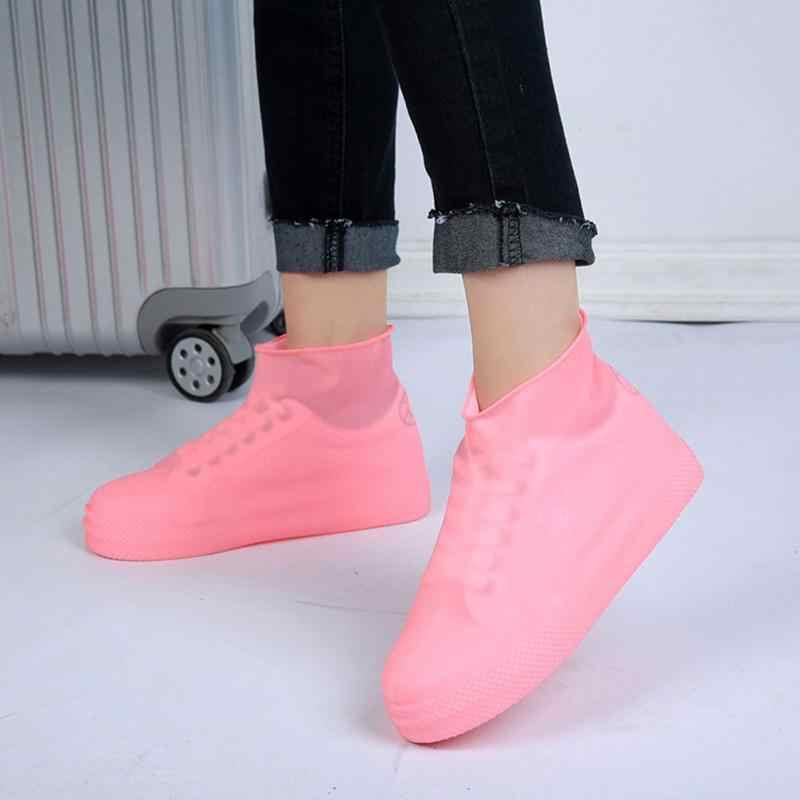 Yeni Su Geçirmez yağmur ayakkabıları Kapakları Tüm Mevsim kaymaz kauçuk yağmur botu Galoş Erkekler Ve Kadınlar Ayakkabı Aksesuarları