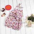 Vintage floral nueva moda impresión linda muchacha del niño ropa ropa niños recién nacidos lindo de la colmena de los mamelucos del bebé