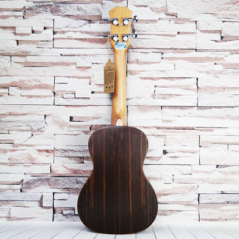 SevenAngel 26 pouces ténor acoustique ukulélé tout palissandre hawaïen 4 cordes guitare électrique Ukelele avec micro EQ AQUILA String - 2