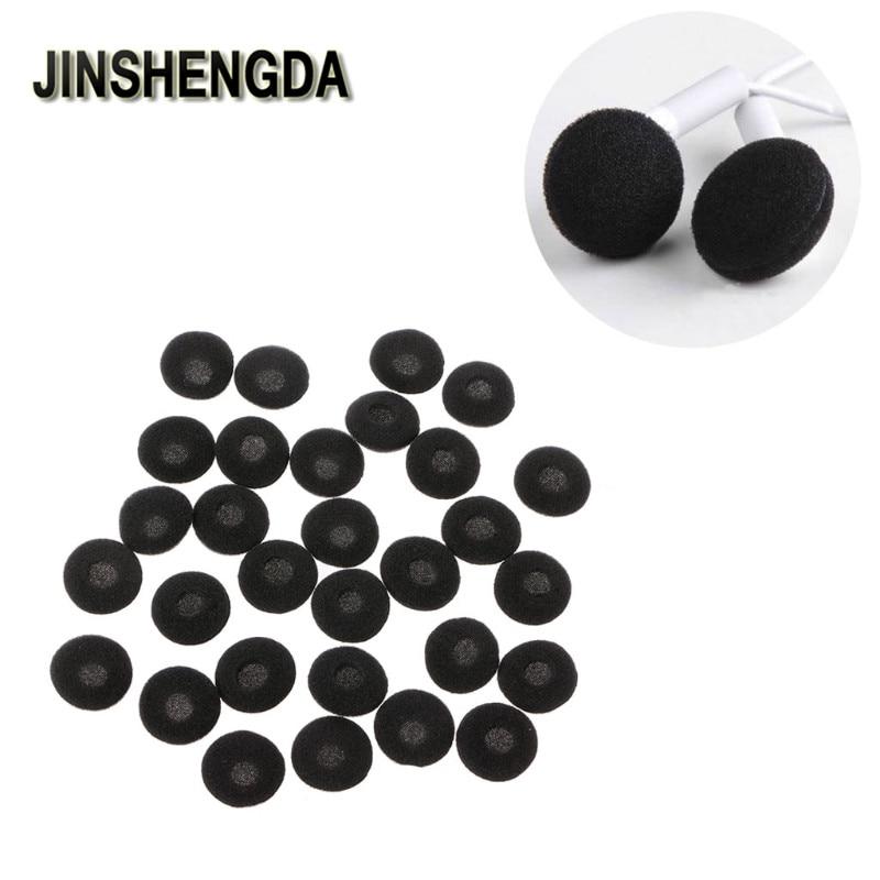 JINSHENGDA Earphone Accessory 30Pcs 15mm Soft Sponge Earphone Earbud Pad Covers Replacement For MP3 MP4 Mobile Phone