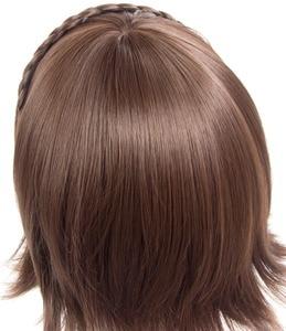 Image 5 - Persona 5 Makoto Niijima Wigs Mixed Brown Hair Cosplay Wig With Braid + Wig Cap