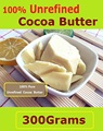 Natural ORGANIC Pure Cocoa Butter 300G  Raw Unrefined Cocoa Butter Base Oil  Imports from Malaysia 2016 NEW Essential Oil