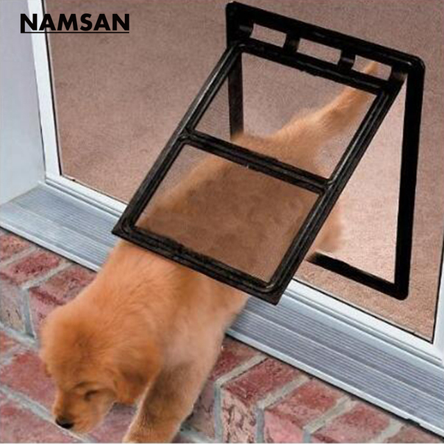 Namsan Magnetic Dog Door Pet Window Screen Flap Door Doggie Door Cat