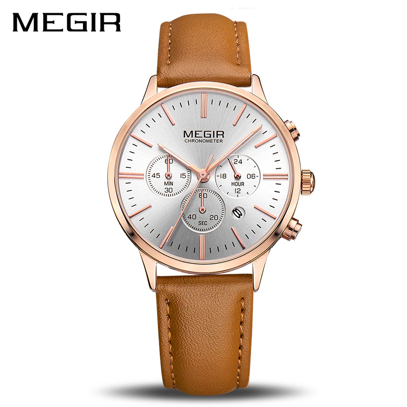 MEGIR Luxury Quartz Women Watches Brand Fashion Sport Ladies Lovers Watch Clock Relogio Feminino For Female Wristwatches 2011