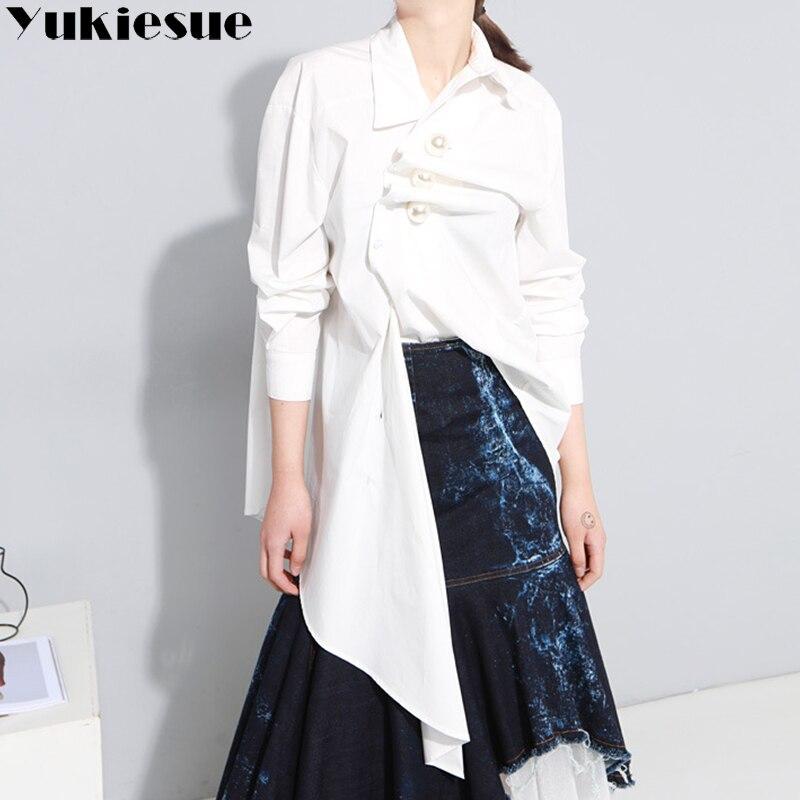 Bowknot Chiffon   Blouse     Shirt   Women batwing Sleeve Sexy Tops Large Size 2018 Spring Summer Asymmetrical   blouses   Harajuku   shirts