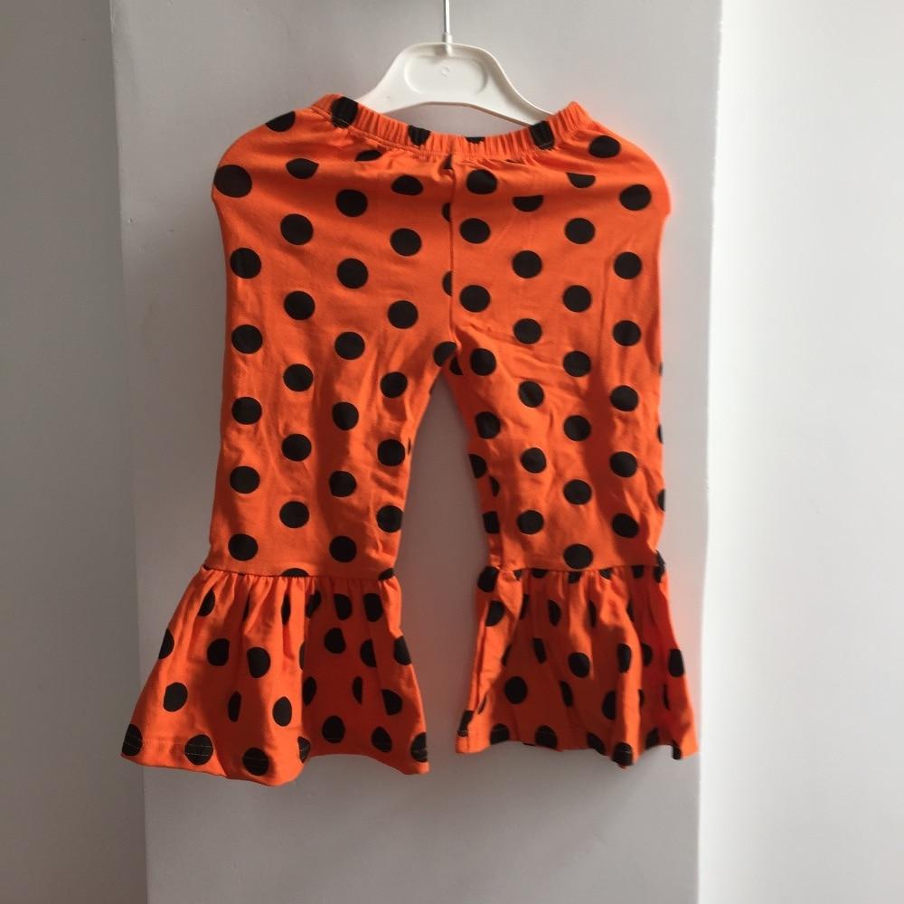 halloween girls pants 2017 girl ruffle pants toddler classic leggings children cotton halloween orange dot pants baby kids pants