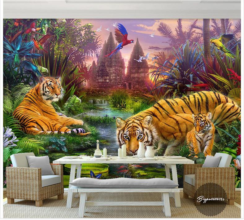 Custom 3d Photo Wallpaper 3d Wall Murals Wallpaper Forest