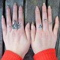 6 pçs/set Retro Conjunto Anel Do Punk das Mulheres Boemia Boho Praia Turco Elefante Seta Knuckle Anéis para As Mulheres Do Vintage Feminino anel