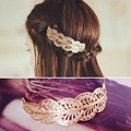 2016 fashion vintage gold metal hollow leaf Hairpins hair clips for women wedding jewelry grampos para cabelo bijoux wholesale