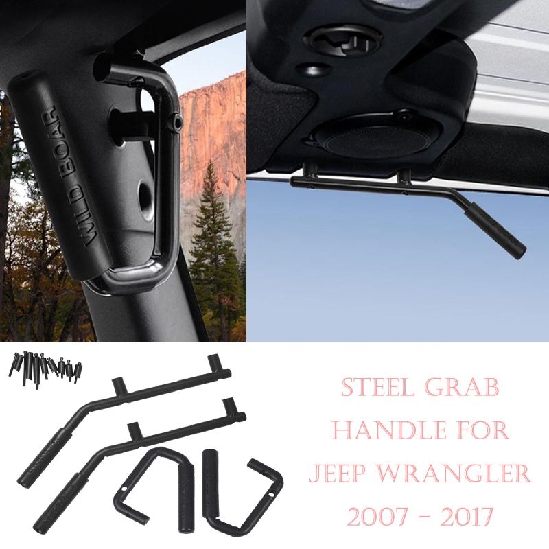 Car Roof Dome Grab Handles Cover Trim for Jeep Wrangler Rubicon JK 07 17 2 Doors/4 Doors Car Accessories
