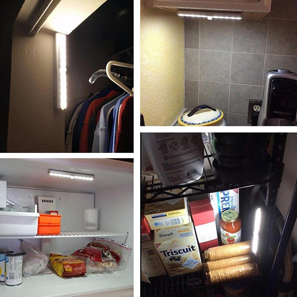 GO OCEAN Under Cabinet Lights Kitchen Lighting IR Motion Sensor 20 LEDs Night Lamps USB Chargeable Stair Light Closet Lamp (22)