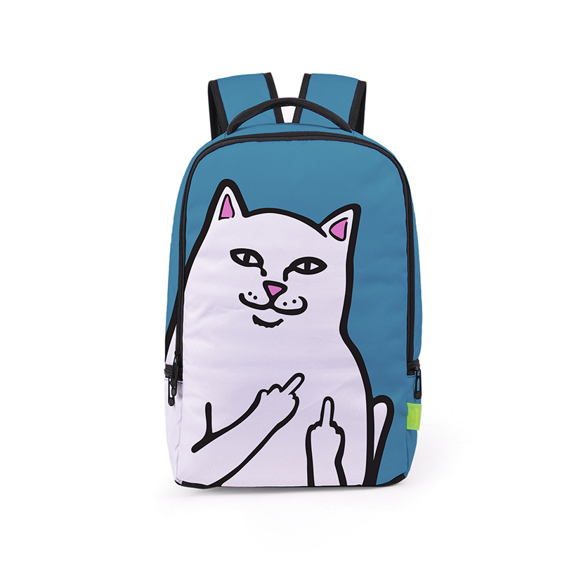 3dc6d497932 Hot Sale Creative Cheap Cat Backpack Middle Finger Funny Cat Cheap  Personalized Bags Unisex Schoolbag Backpacks Book Bag Mochila-in School Bags  from Luggage ...
